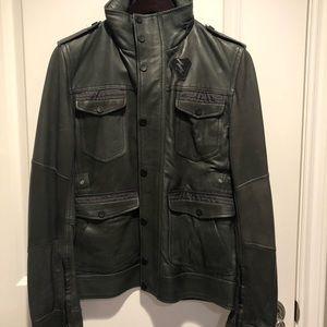 Diesel field leather jacket
